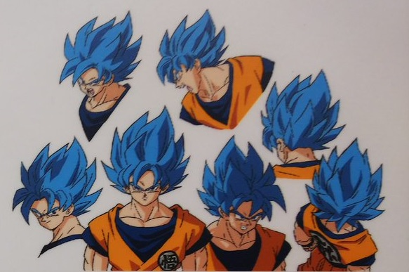 Dragon Ball Super Broly : chara design Goku SSJ Blue (SSGSS)