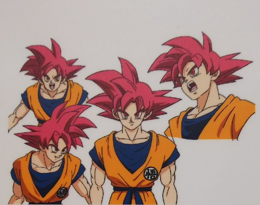 Dragon Ball Super Broly : chara design Goku SSJ GOD