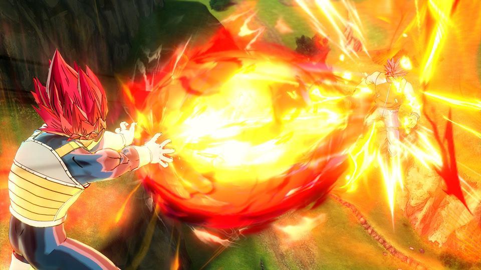 Vegeta Super Saiyan God : Prominence Flash