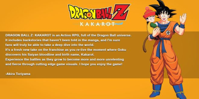 Dragon Ball Z Kakarot : Message d'Akira Toriyama