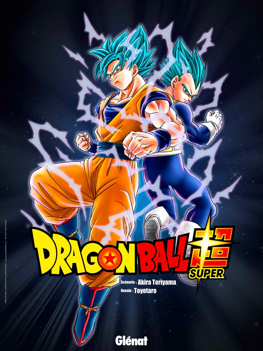 Poster dragon ball super Goku et Vegeta Blue