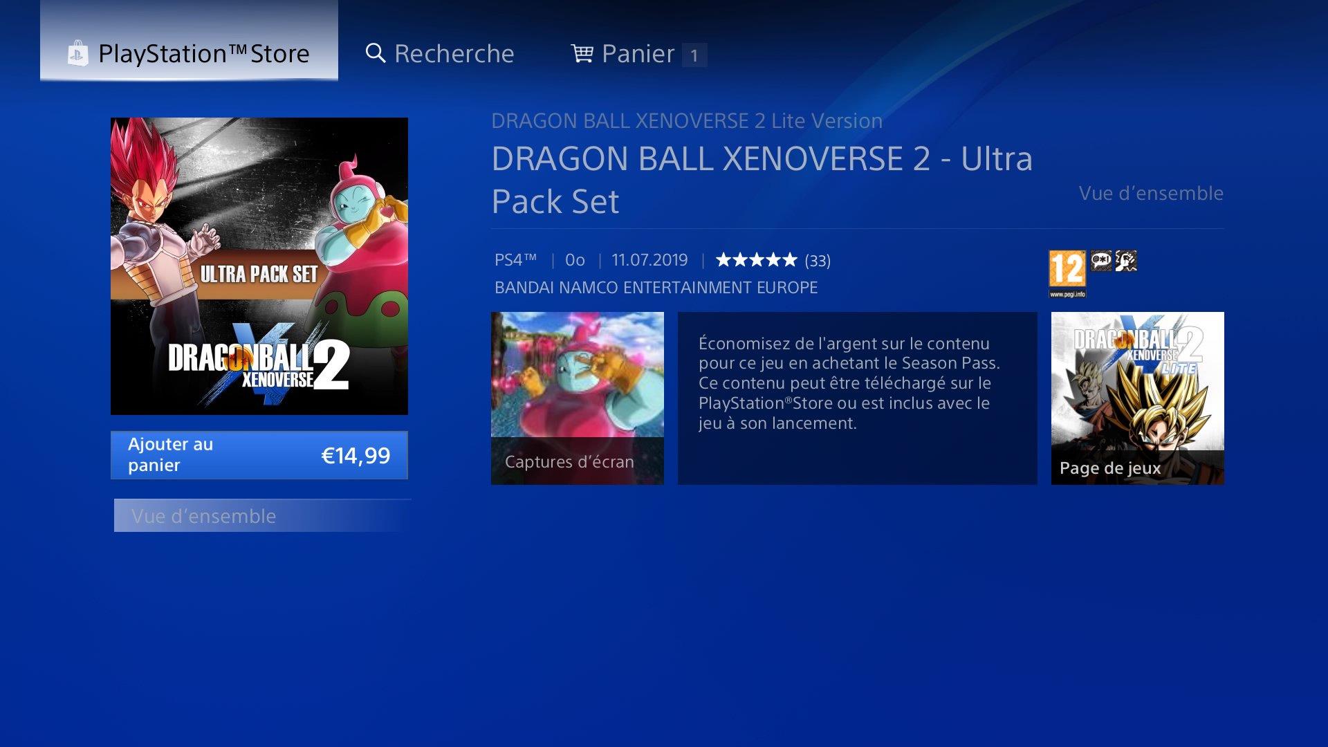 Dragon Ball Xenoverse 2 : L'Ultra Pack 2