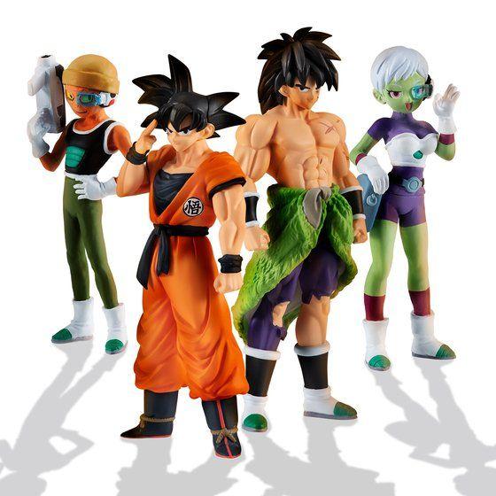 Broly, Goku, Cheelai et Lemo annoncés en figurines HG
