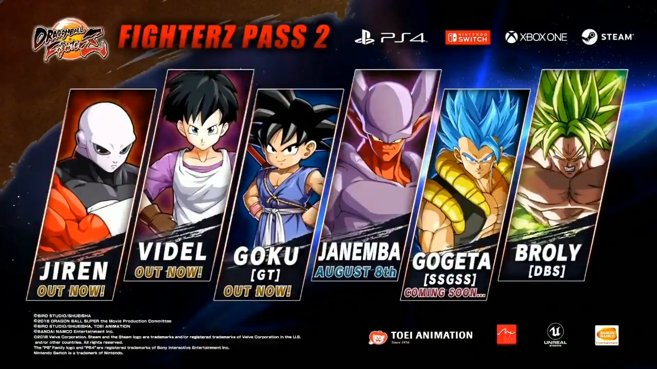 Dragon Ball FighterZ : FighterZ Pass 2