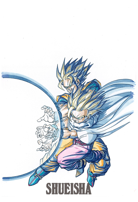 DBZ Goku et Gohan Kamehameha Père Fils