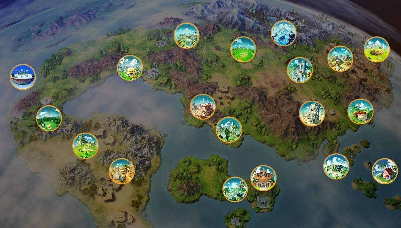 Dragon Ball Z Kakarot : La carte du monde dévoilée, nouveaux détails sur les véhicules