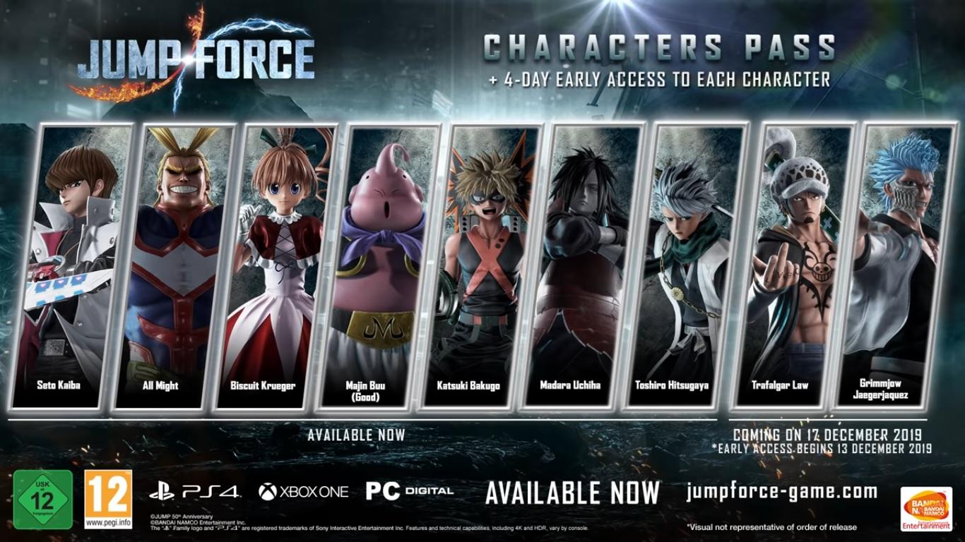 JUMP FORCE : Date de sortie de Grimmjow Jaegerjaquez et Trafalgar Law
