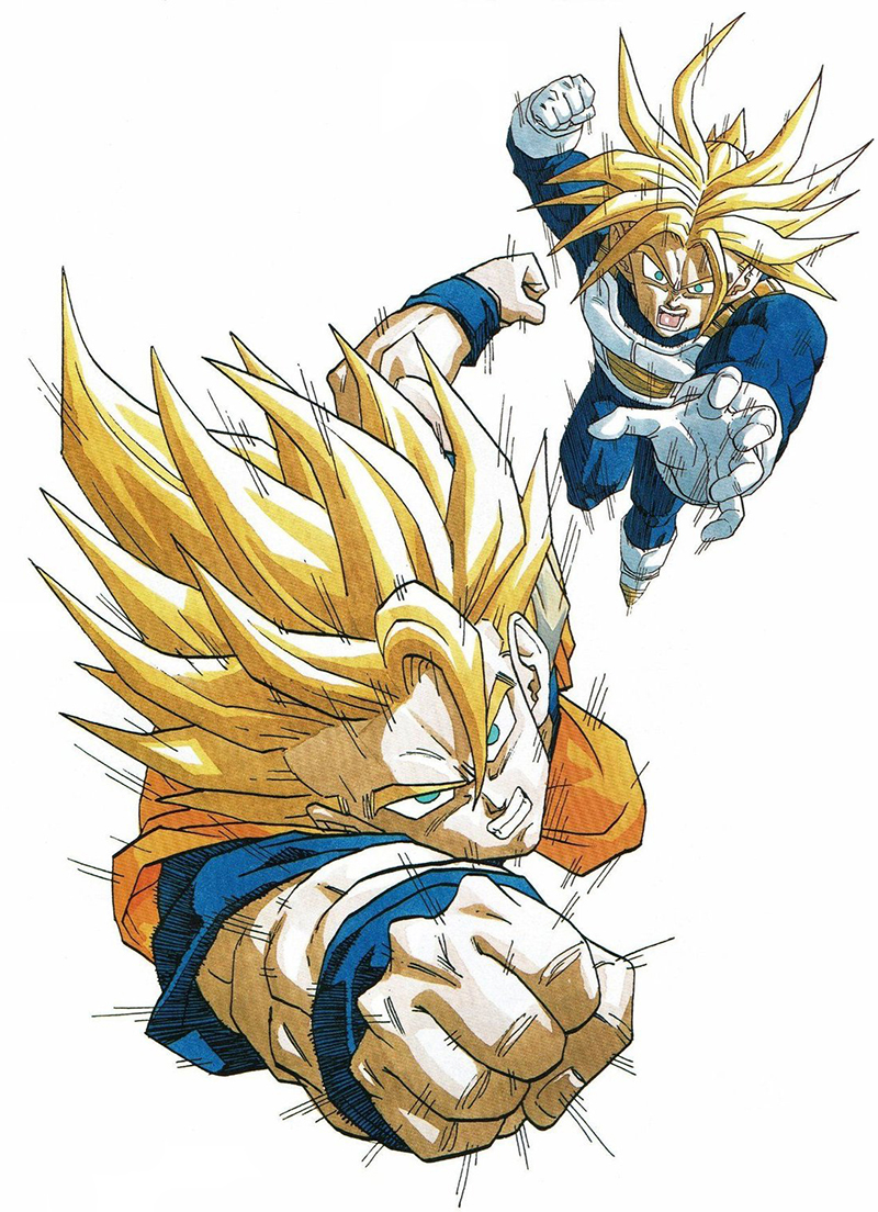Goku SSJ et Trunks SSJ