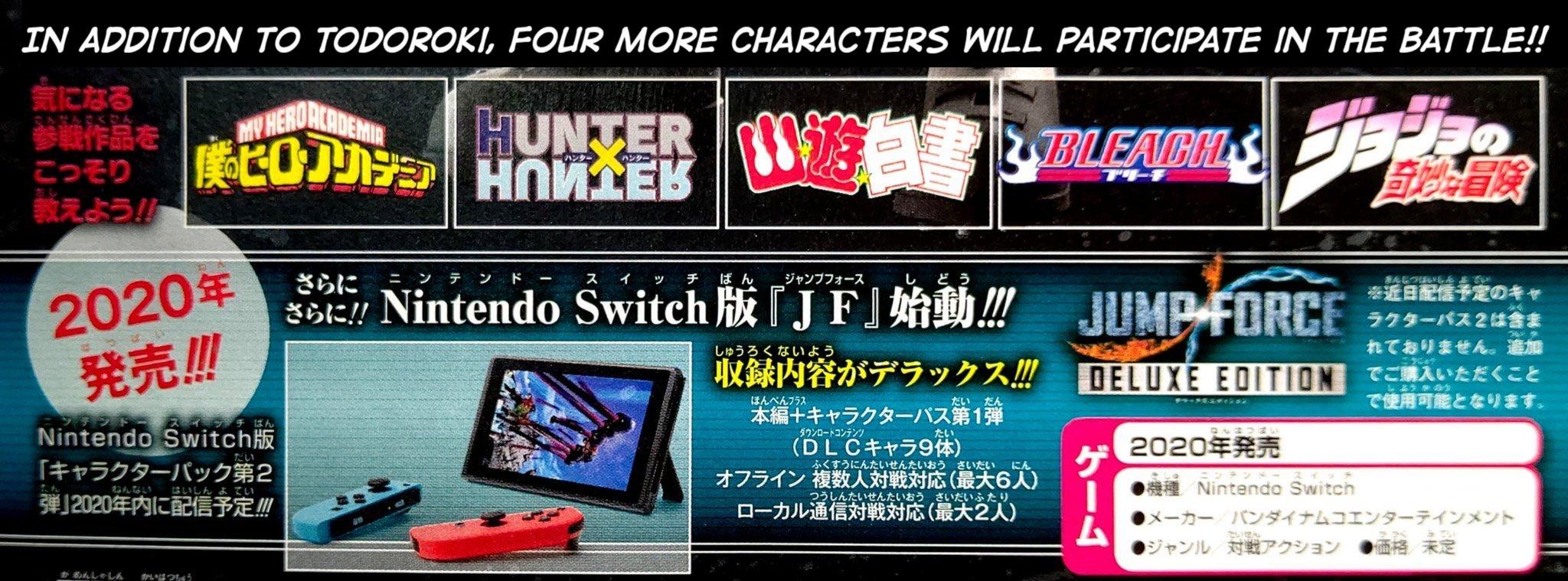 JUMP FORCE : Character Pass 2 et version Switch annoncés