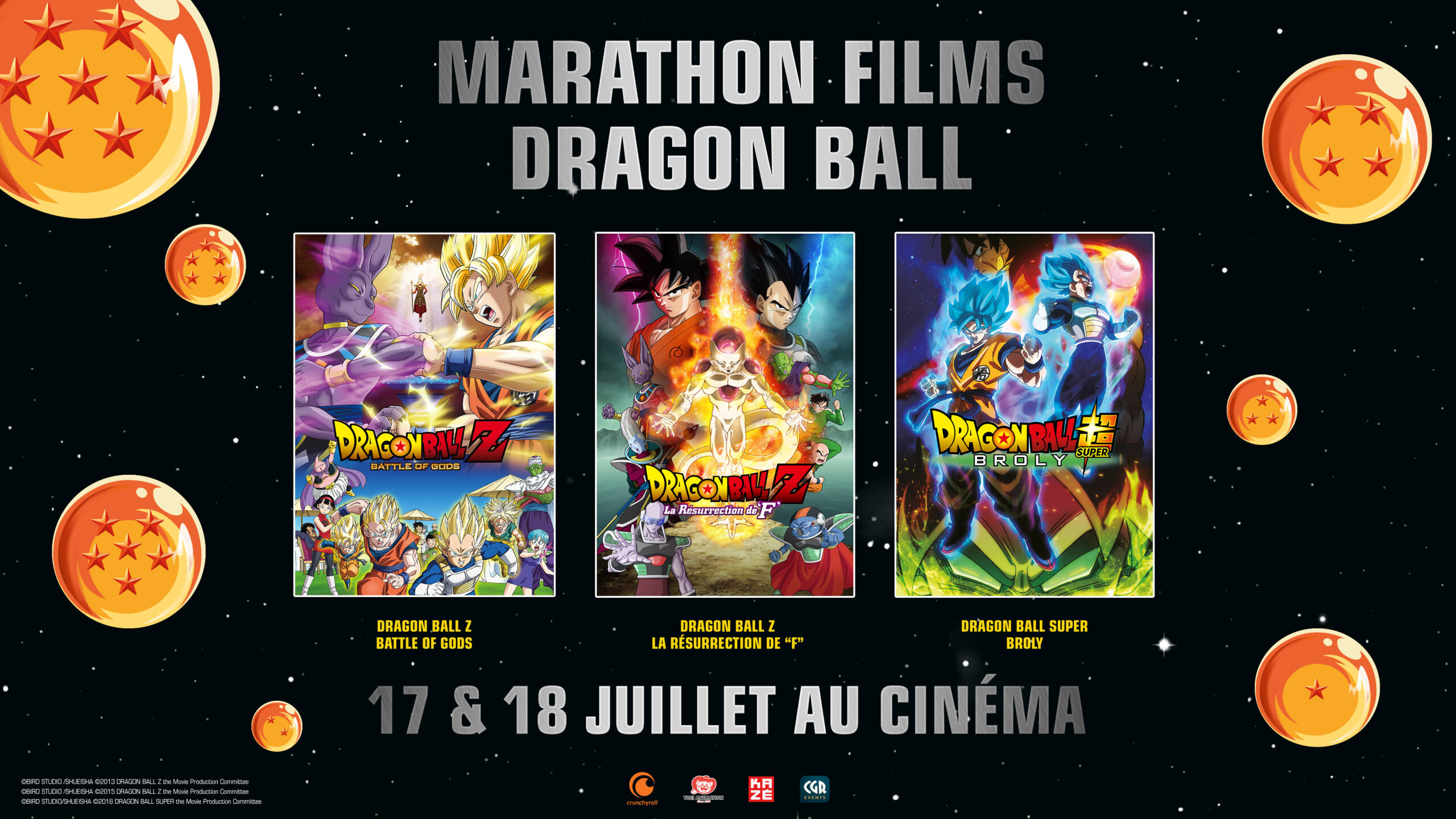 Marathon films dragon ball au cinéma