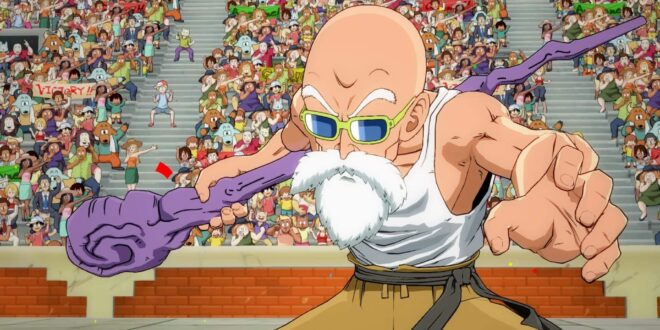 Dragon Ball FighterZ Gameplay Master Roshi