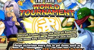Le 34ème Tenkaichi Budokai dans Dragon Ball Z Dokkan Battle a commencé