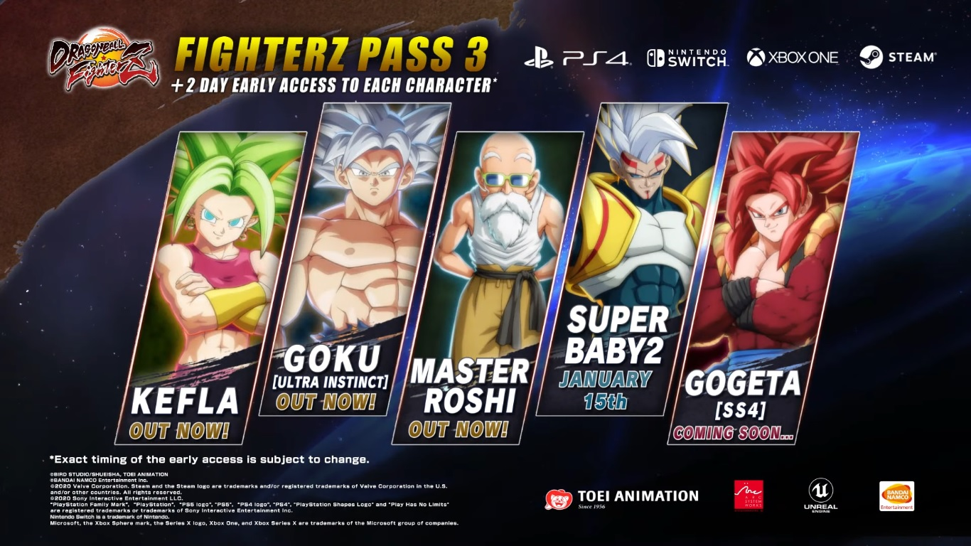 Dragon Ball FighterZ Pass 3