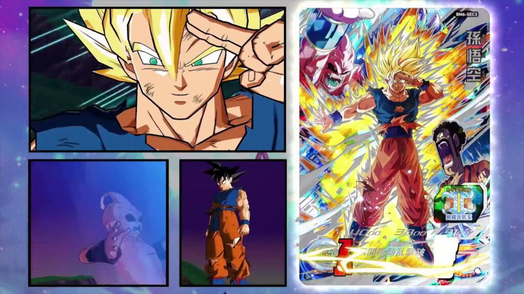 SDBH BBM6 CARD SEC - Goku Super Saiyan VS Majin Buu
