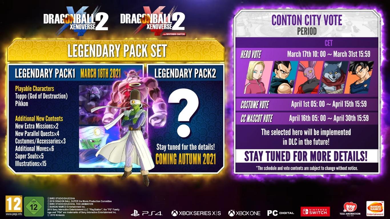 Xenoverse 2 Legendary Pack 1 et 2
