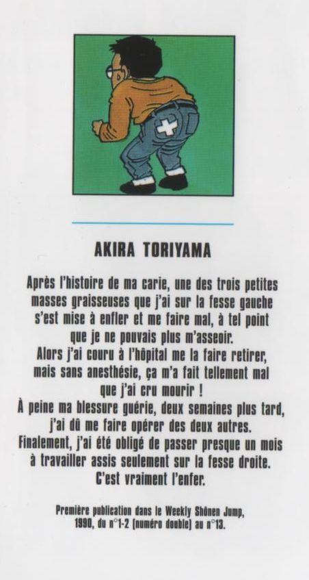 Presque toutes les œuvres d'Akira Toriyama – Semaine du 17 au 23 mai 2021