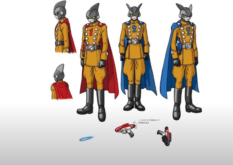 Dragon Ball Super - Super Hero chara design Gamma 1 e 2